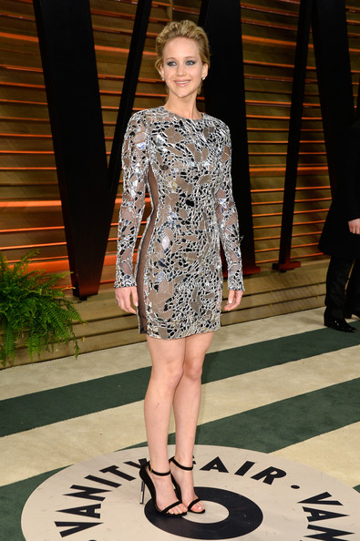Jennifer Lawrence Beaded Dress