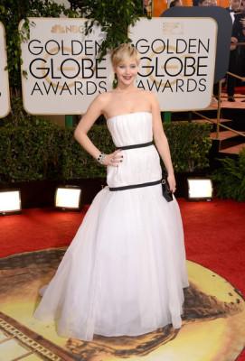 Jennifer Lawrence Strapless Dress