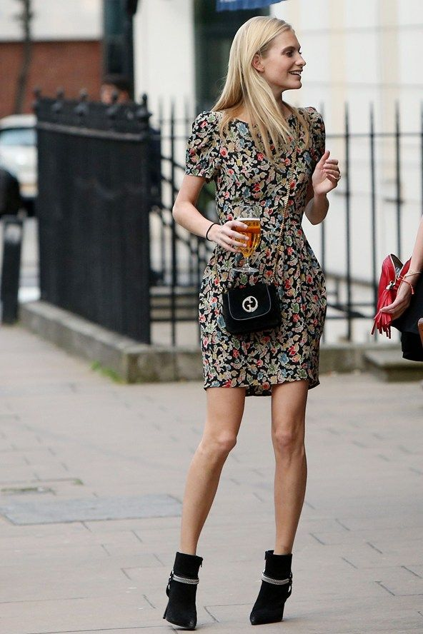 Best Celebrity Looks: Dress With Ankle Boots » Celebrity Fashion ...