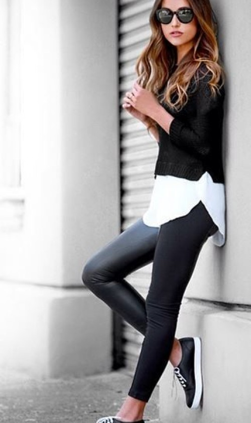 Stay Adorable With Black and White Outfit