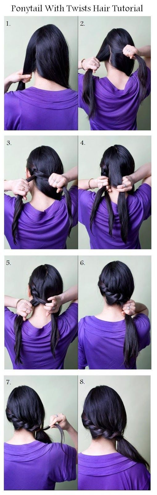 Braid ponytails