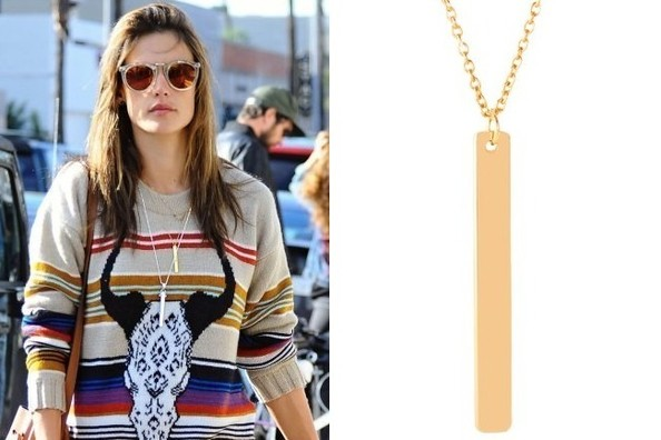 Alessandra Ambrosio's Necklace
