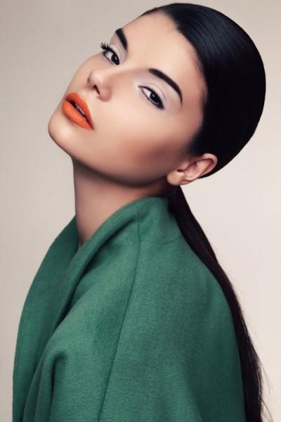 Matte Orange Lipstick