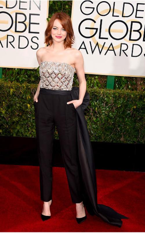 Emma Stone In Lanvin Jumpsuit