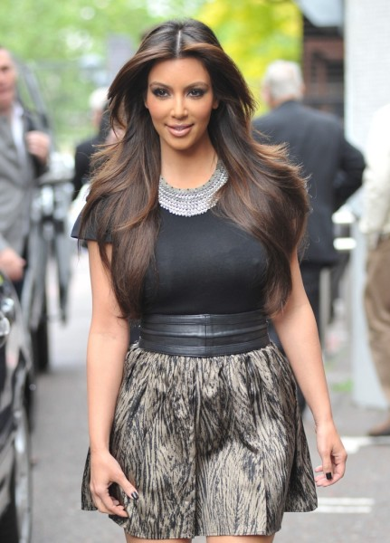 Kim Kadarshiaan Middle Part Hairstyle