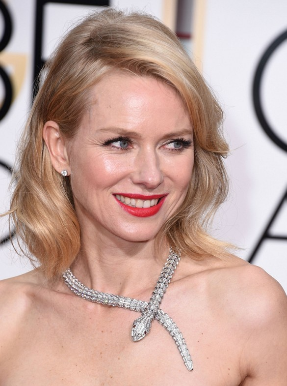 Naomi Watts Jewelry At Golden GLobes 2015