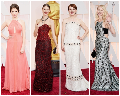 2015 Oscars Academy Awards Best Celebrities Dresses
