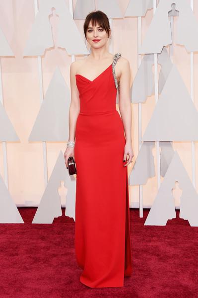 Dakota Johnson One Shoulder Dress