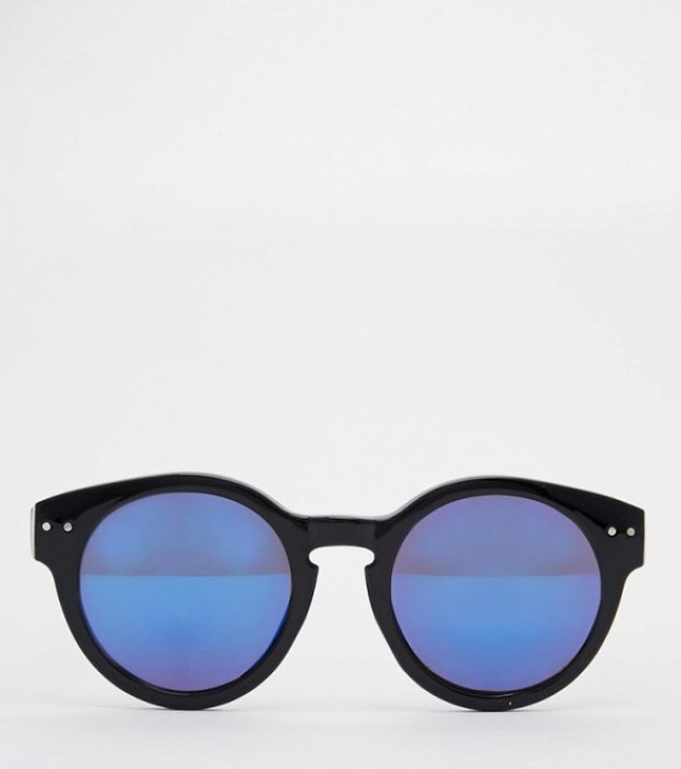 Jeepers Peepers Round Mirror Lens Sunglasses