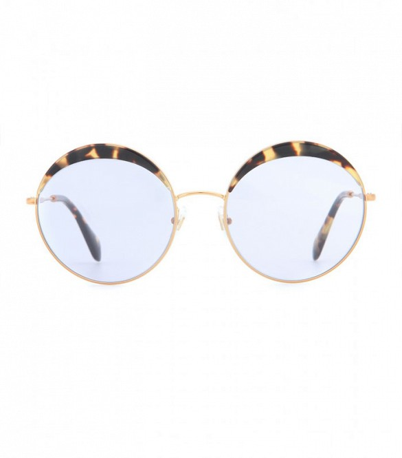 dc71fcdd4a2d Miu Miu Round Sunglasses » Celebrity Fashion, Outfit Trends And ...