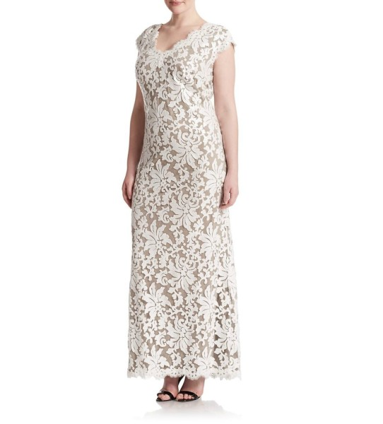 Tadashi Shoji Floral Lace Gown