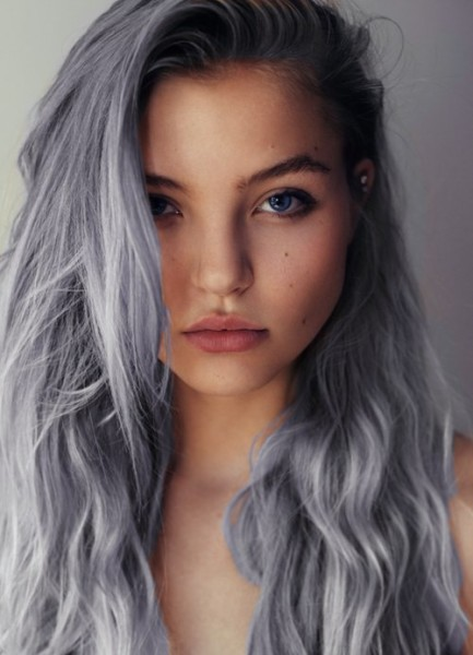 The hint of lilac in this gray style is lovely.