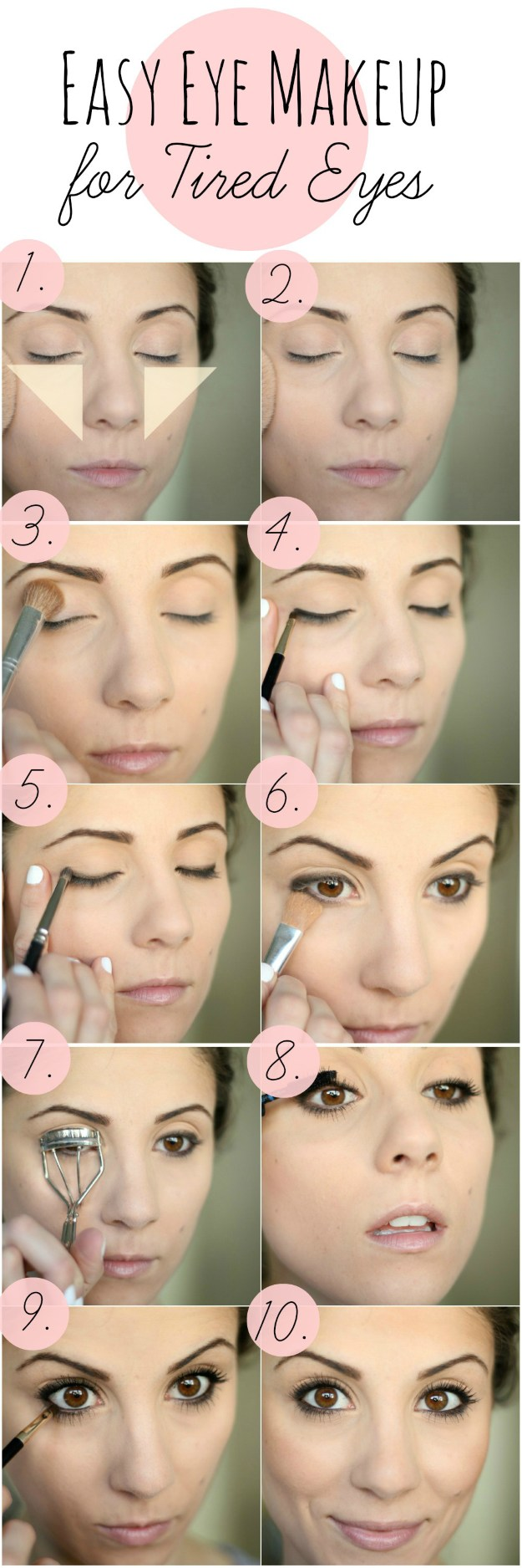 Fashionble natural eye makeup tutorials for work | pinterest.