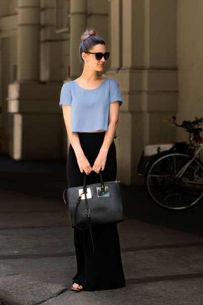 Gayle Taliaferro does periwinkle two ways -2015 Summer Street Style Ideas You Need To Try