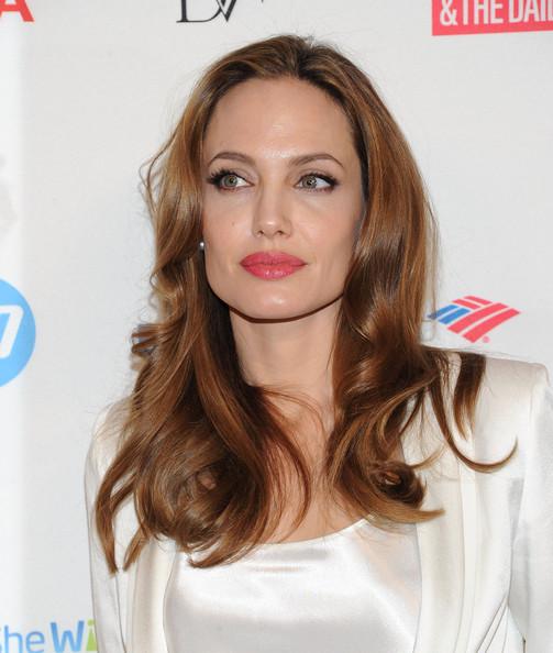Angelina Jolie's Warm Auburn