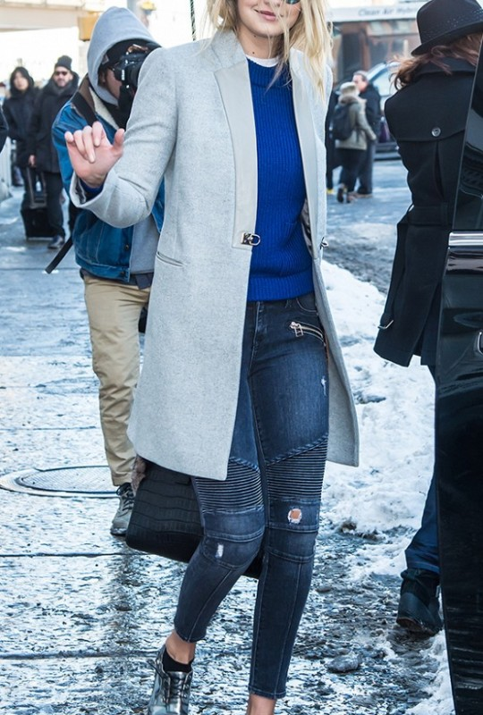 Gigi Hadid's Affordable Blue Sweater