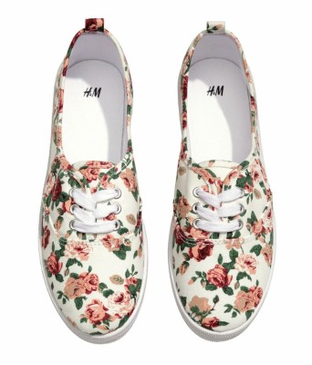 Floral sneakers by H&M