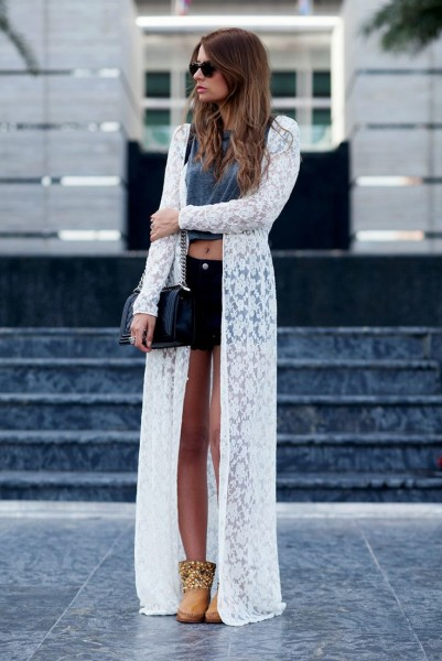 2015 Trend Outfit With Long Cardigan » Celebrity Fashion ...