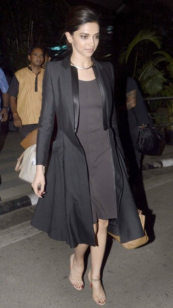 Deepika Padukone at the Mumbai airport.