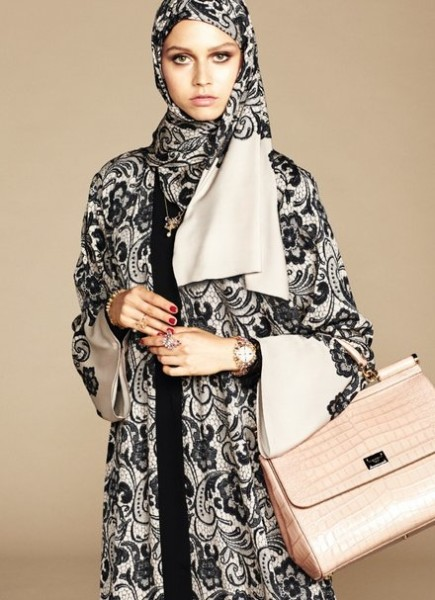 Let's Peek Out of Dolce Gabbana's Hijab and Abaya Collection!