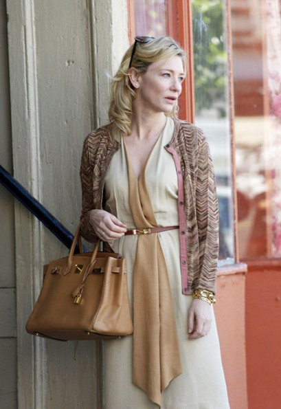 Cate Blanchett carrying the Hermes PR's Birkin bag