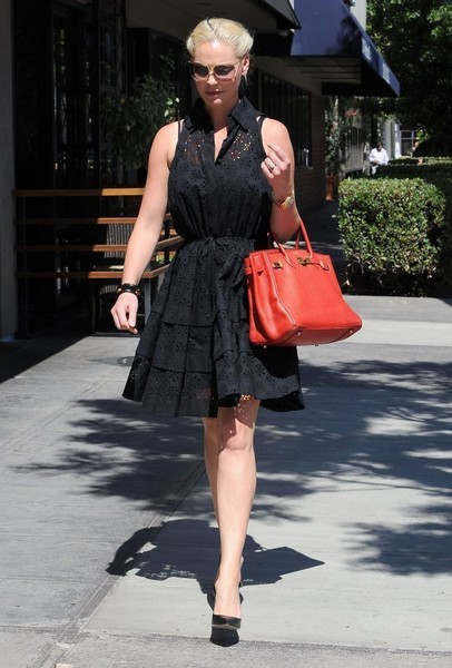 Katherine Heigl Leather Tote PRADA