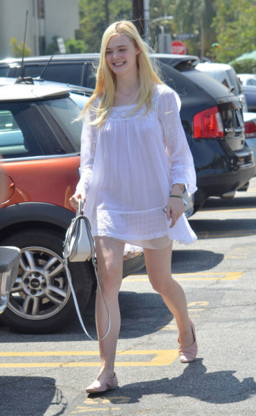 Wearing white out and about in L.A.