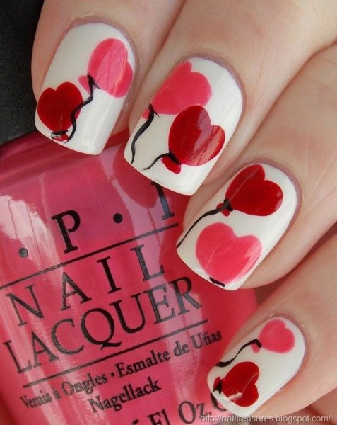 Lovely Nail Art For Valentine's Day 2016