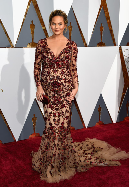 Chrissy Teigen in Marchesa