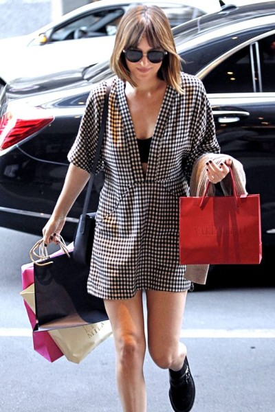 Dakota Johnson out shopping in Milan