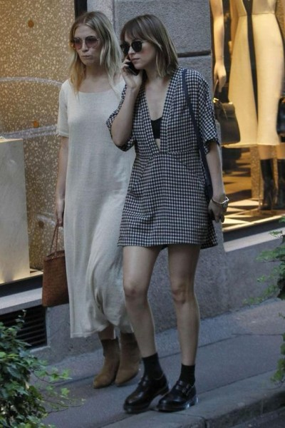 Dakota Johnson out shopping in Milan Italy