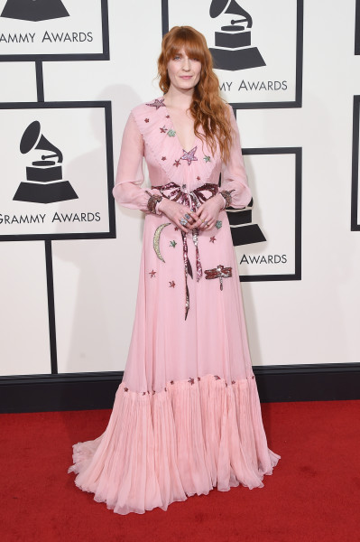 LOS ANGELES, CA - FEBRUARY 15:  Singer Florence Welch attends The 58th GRAMMY Awards at Staples Center on February 15, 2016 in Los Angeles, California.  (Photo by Jason Merritt/Getty Images for NARAS)