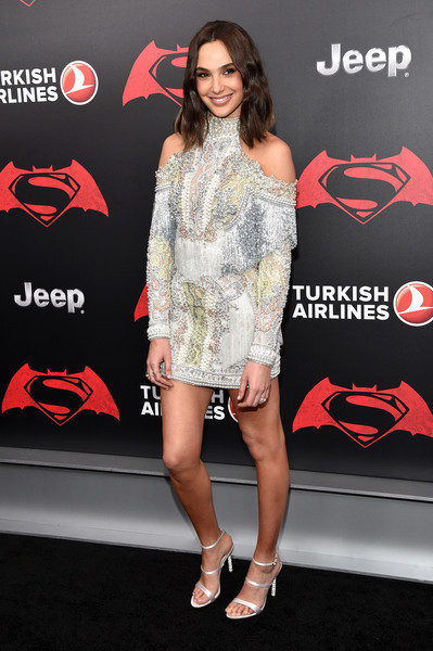 Actress Gal Gadot attends the launch of Bai Superteas at the Batman v Superman premiere on March 20, 2016 in New York City.