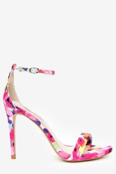 Steve Madden Single Strap Heels - Floral