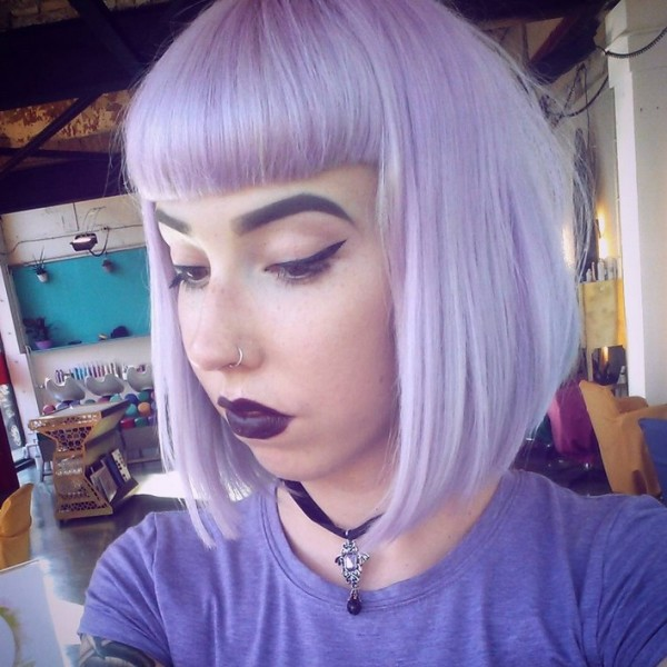 pastel-bob-haircut-with-bangs-for-short-hair
