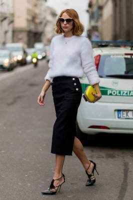 A pencil skirt is always office friendly.