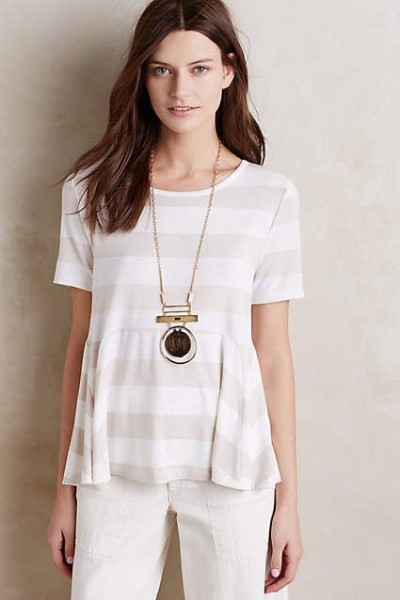 Edgewise Peplum Tee - anthropologie.com