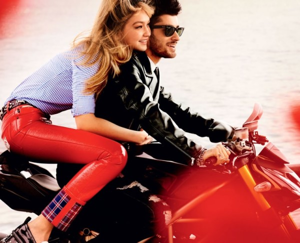 Gigi Hadid and Zayn Malik Romantic Kiss For 'Vogue'_