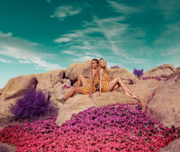 Hailey Baldwin and Adwoa Aboah star in H&M Loves Coachella 2016 campaign