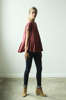 Maroon Peplum from Clad and Cloth