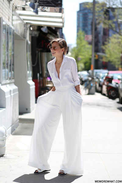 Picked Color: All-White Outfit Inspirations via weworewhat