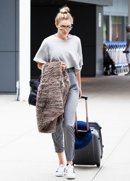 Gigi Hadid JFK in New York City, New York