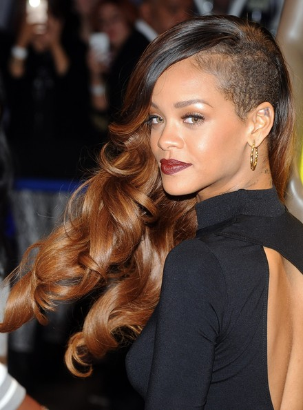 Rihanna made the undercut glam with big, bountiful curls.