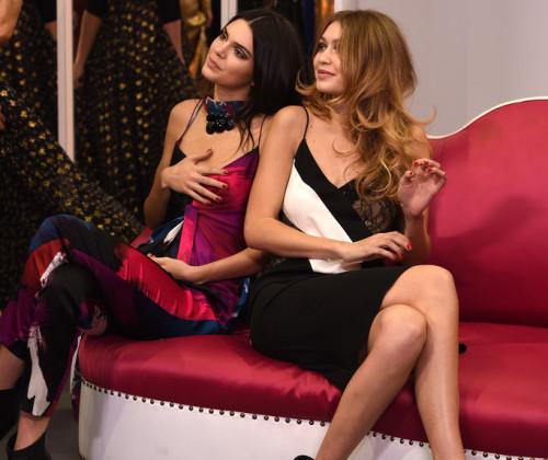 Gigi for DVF Fashion Show in New York Fashion Week - Backstage