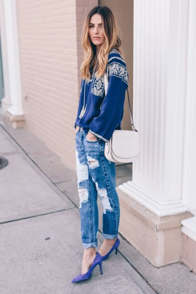 Isabel Marant boho blouse and one teaspoon boyfriend jeans Prosecco & Plaid