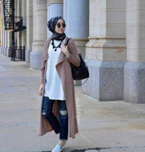 coat sporty hijab look
