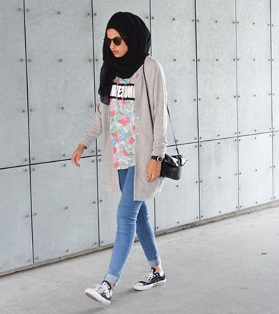 How To Wear Hijab Outfit With Casual Looks Celebrity