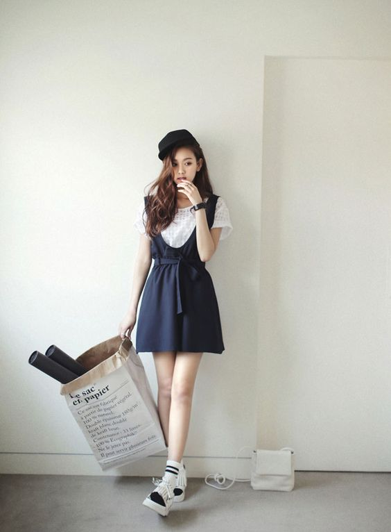 Image of: Naf How To Wear Skirt In Korean Daily Fashion Style Tumblr Dress Fashion Korean Archives Celebrity Fashion Outfit Trends And