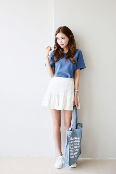 How To Wear Skirt In Korean Daily Fashion Style Celebrity Fashion Outfit Trends And Beauty Tips