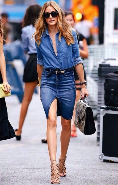 Elle Taiwan Leave it to Olivia Palermo to master a casual chic denim-on-denim look.
